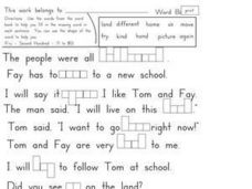 Fry's Sight Words 71-80 Worksheet
