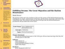 Fulfilling Dreams: The Great Migration and the Harlem Renaissance Lesson Plan