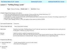 Fulfilling Energy Levels Lesson Plan