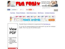 Fun Fonix: Say it. Write in the th, qu, or wh. Read it. Worksheet