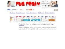 Fun Fonix: Ss Worksheet