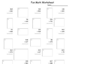 Fun Math 10 Worksheet