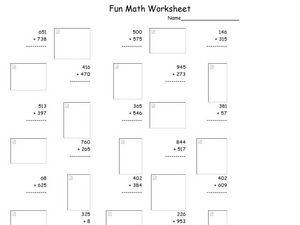 Fun Math 12 Worksheet