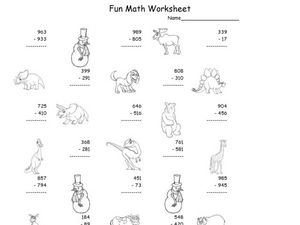 Fun Math 13 Worksheet