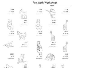 Fun Math 17 Worksheet