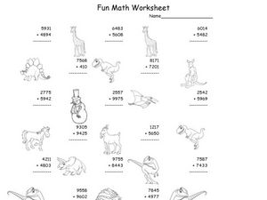 Fun Math 18 Worksheet