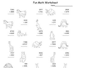 Fun Math 23 Worksheet