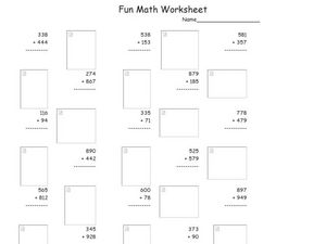 Fun Math 34 Worksheet