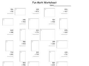 Fun Math 45 Worksheet
