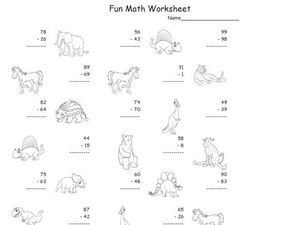 Fun Math 5 Worksheet