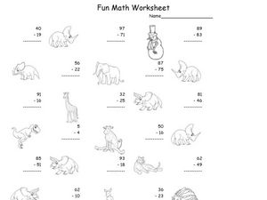 Fun Math 52 Worksheet