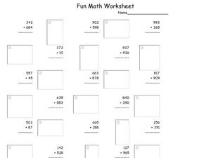 Fun Math 73 Worksheet