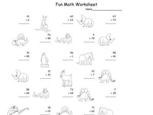 Fun Math: Adding 1 and 2-Digit Numbers Worksheet