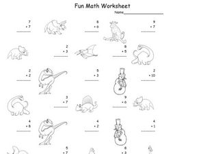 Fun Math: Adding 1-Digit Numbers #4 Worksheet