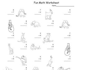 Fun Math Worksheet: 1-Digit Addition 12 Worksheet