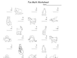 Fun Math Worksheet: 1-Digit Addition 4 Worksheet