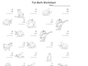 Fun Math Worksheet: 1-Digit Addition 9 Worksheet