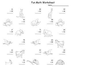 math worksheet : fun math worksheet 2 digit addition 10 2nd  3rd grade worksheet  : Saxon Math Worksheets 1st Grade