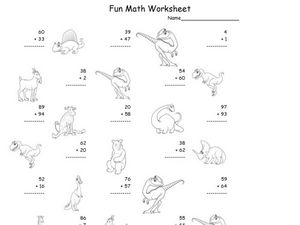 Fun Math Worksheet: 2-Digit Addition 11 Worksheet