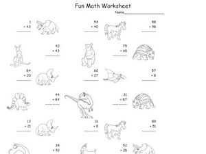 Fun Math Worksheet: 2-Digit Addition 12 Worksheet
