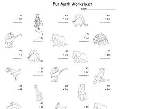 Fun Math Worksheet: 2-Digit Addition 5 Worksheet