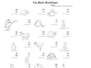 Fun Math Worksheet: 2-Digit Subtraction 2 Worksheet