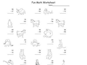 Fun Math Worksheet: 2-Digit Subtraction Worksheet