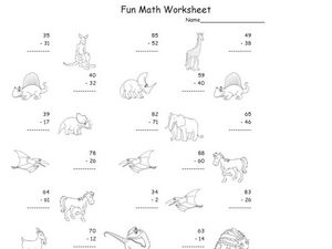 Fun Math Worksheet: 2-Digit Worksheet