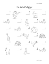 Fun Math Worksheet 20 Worksheet
