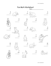 Fun Math Worksheet 22 Worksheet