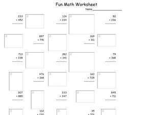 Fun Math Worksheet 25 Worksheet