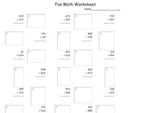 Fun Math Worksheet 3 Worksheet