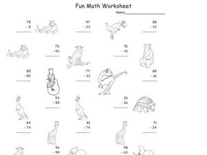 Fun Math Worksheet 5 Worksheet