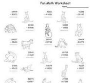 Fun Math Worksheet: Addition of Five Digit Numbers Worksheet