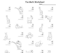 Fun Math Worksheet: Addition Practice Worksheet