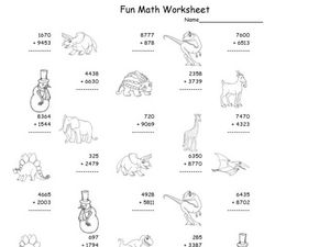 Fun Math Worksheet: Multiple Digit Addition 5 Worksheet