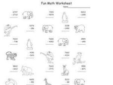 Fun Math Worksheet: Subtraction 3 Worksheet