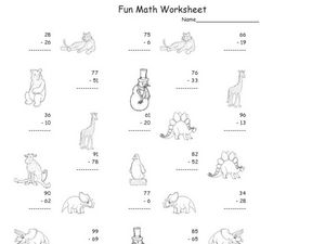 Fun Math Worksheet: Subtraction Worksheet