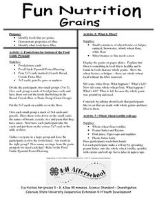 Fun Nutrition- Grains Lesson Plan