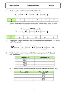 Function Machines Worksheet
