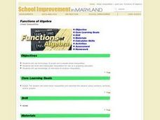 Functions of Algebra Lesson Plan