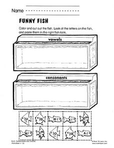 Funny Fish Worksheet