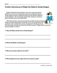 Further Adventures of Ralph the Rebel & Goffy Dragon Worksheet