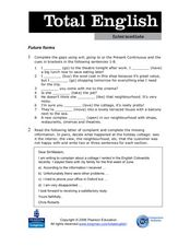 Future Forms - Total English Worksheet