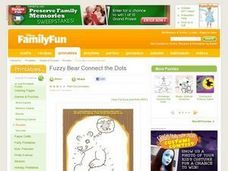Fuzzy Bear Connect the Dots Lesson Plan
