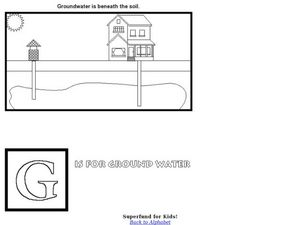 G is for Groundwater Worksheet