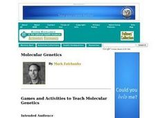 Games and Activities to Teach Molecular Genetics Lesson Plan
