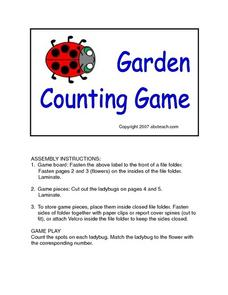 Garden Counting Game Lesson Plan