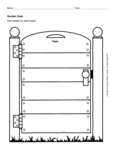 Garden Gate Worksheet