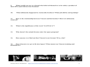 gattaca movie questions and essays